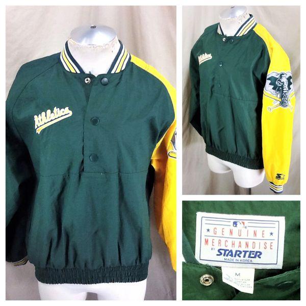 Vintage 90's Starter Oakland Athletics Baseball (Med/Large) Retro MLB A's Nylon Windbreaker Jacket