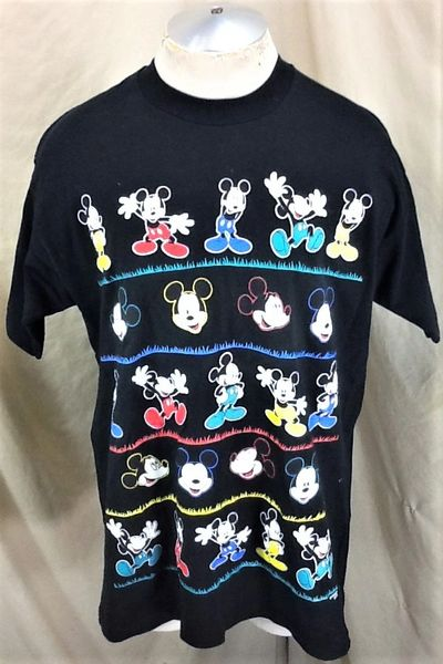 Vintage 90's Disney's Mickey Mouse (XL) Retro Bright Colors Cartoon T-Shirt