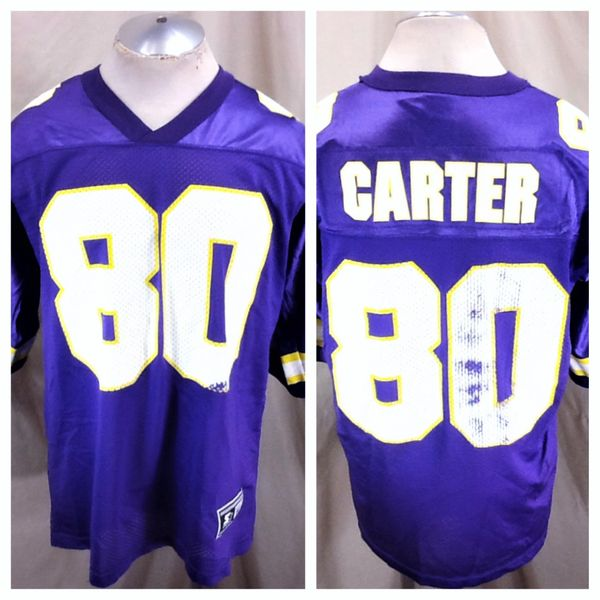 Vintage 90's Starter Minnesota Vikings Cris Carter #80 (52/XL) Retro NFL Football Purple Jersey