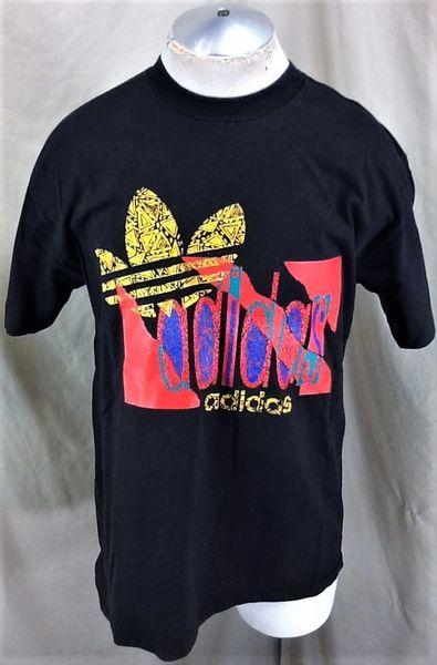 Vintage 90's Adidas Trefoil Hip Hop (Large) Retro Streetwear Graphic T-Shirt