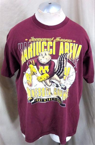 Vintage 1994 Minnesota Gophers Hockey (XL) Retro NCAA Mariucci Arena Inaugural Season T-Shirt