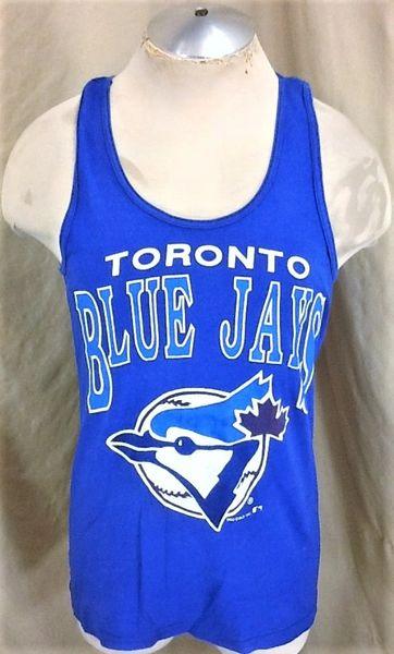 Vintage 1989 Toronto Blue Jays Baseball (Med) Retro MLB Classic Logo Graphic Tank Top T-Shirt