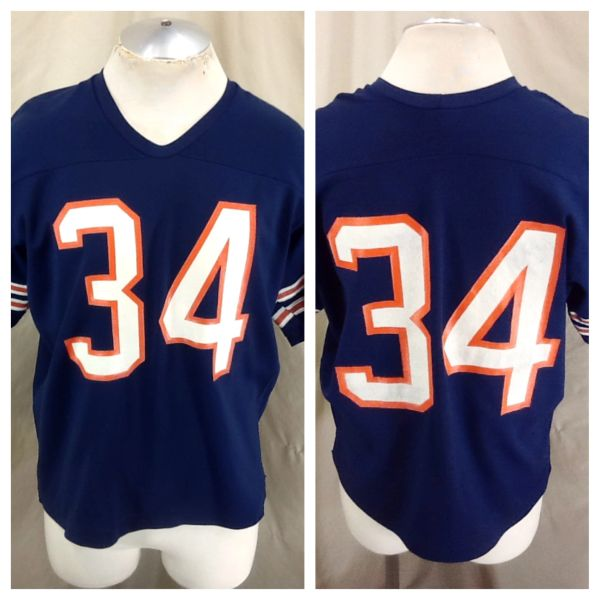 Vintage 80's Rawlings Chicago Bears Walter Payton #34 (XL Short) Retro NFL Football Jersey