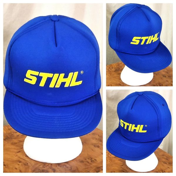 Vintage 1980's Stihl Chainsaws Insulated Retro Snap Back Lumberjack Logging Hat