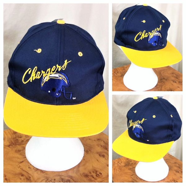 New! Vintage 90's San Diego Chargers Retro NFL Football Graphic Snap Back Hat Blue