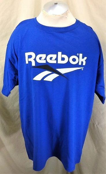 Vintage 90's Reebok Classic Logo (XL) Retro Graphic Active Wear T-Shirt Blue
