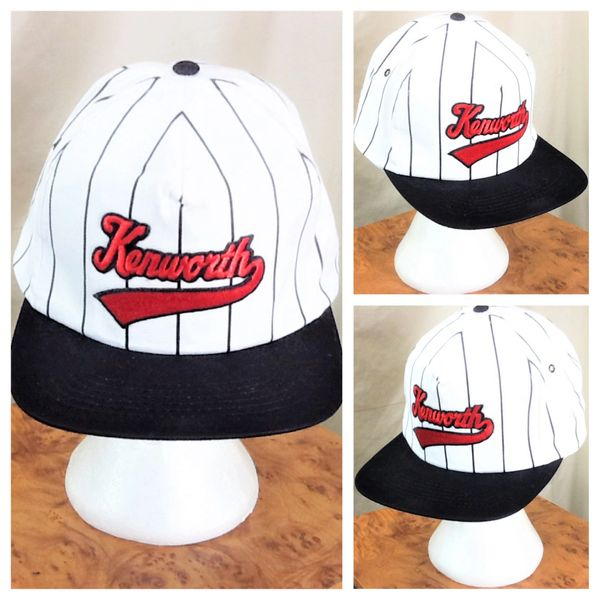 Vintage 90's Kenworth Trucking Pinstripe Retor Graphic Snap Back Baseball Cap