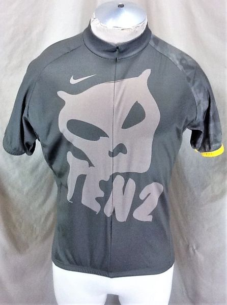 Nike Lance Armstrong Ten 2 10/2 (Large) Retro 3/4 Zip Up Olive Green Cycling Jersey