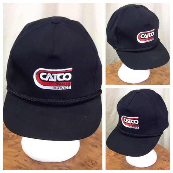 Vintage 90's Catco Parts & Service Retro Farming Style Graphic Snap Back Hat