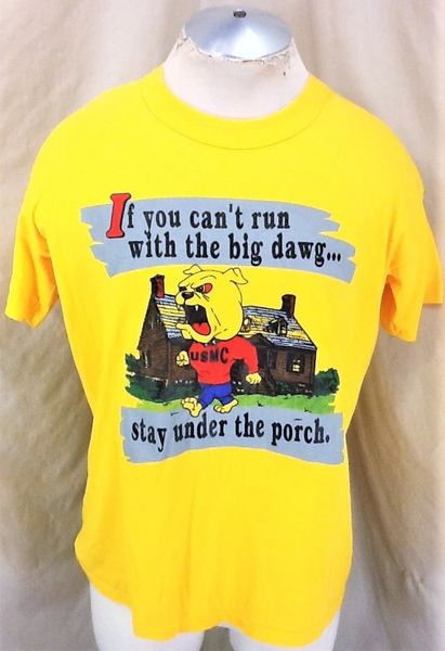"Vintage 1980's United States Marine Corps (XL) ""Run With The Big Dawg"" T-Shirt"