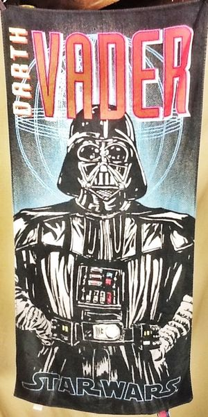 Vintage 90's Lucas Films Star Wars Darth Vader Retro Graphic Black Beach Towel Wall Art