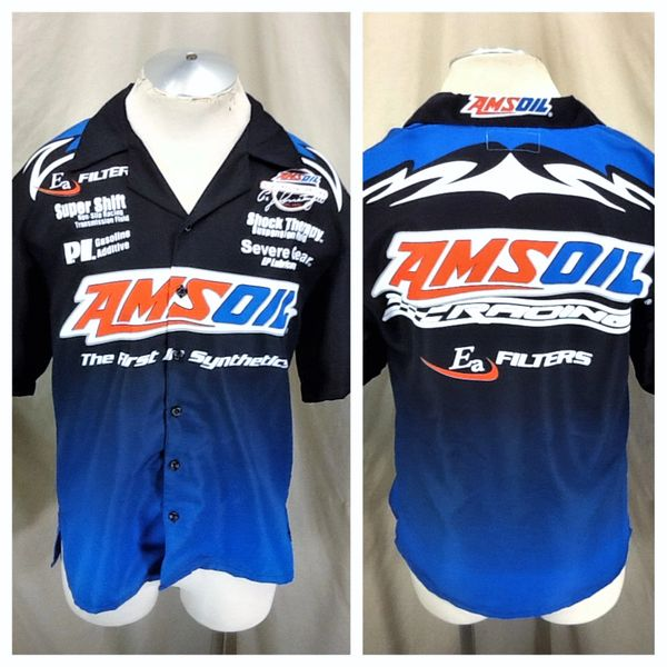 "Amsoil Racing Sportswear Gear (Small) ""First In Synthetics"" Button Up Shop Shirt"