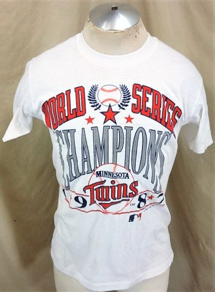 Vintage 1987 Minnesota Twins Baseball Club (Med) Retro MLB World Series Graphic T-Shirt