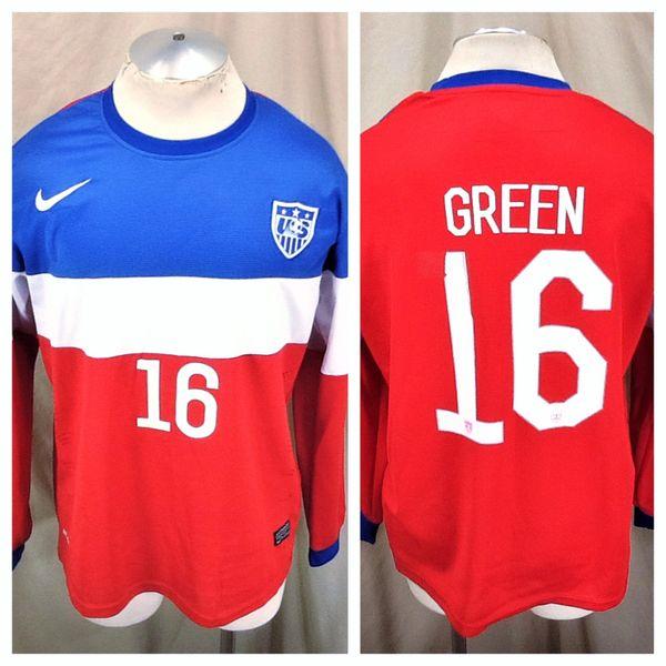 2014 Nike Dri-Fit Team USA Julian Green #16 (L/XL) Retro FIFA World Cup Futbol Jersey