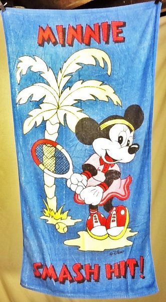 """MInnie Mouse """"Smash Hit"""" Graphic Beach Towel Wall Art"""