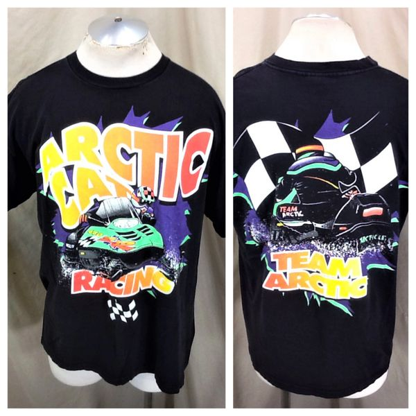 Vintage 90's Arctic Cat Snowmobiles (XL) Retro ZR Racing Graphic T-Shirt Black