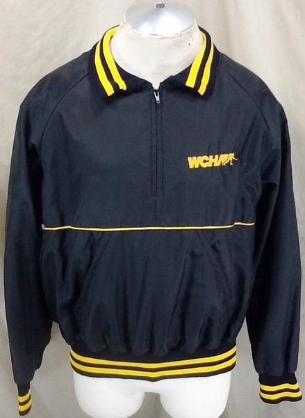 Vintage 1980's WCHA Hockey Conference (XL) Retro College Hockey Pullover Nylon Jacket
