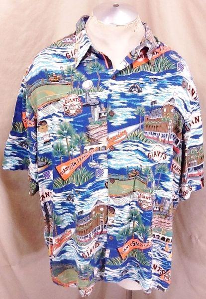 Vintage 90's Reyn Spooner San Francisco Giants (2XL) Retro MLB Baseball Hawaiian Shirt
