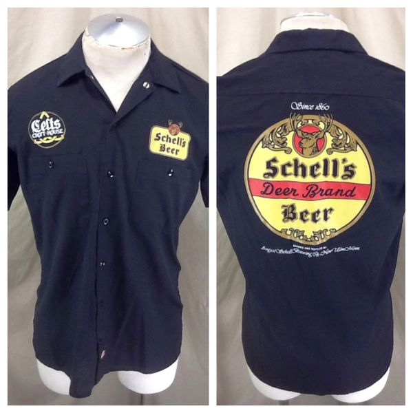 "Dickies Schell's Beer ""Deer Brand Beer"" (Small) Celts Craft House Button Up Shirt"