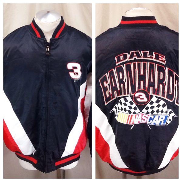 Vintage Nutmeg Dale Earnhardt #3 (XL) Racing Legend Zip Up NASCAR Jacket Black