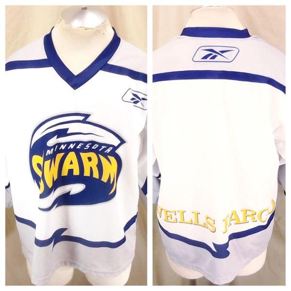 Reebok CCM Minnesota Swarm Lacrosse (Large) Pullover Knit Polyester Jersey White