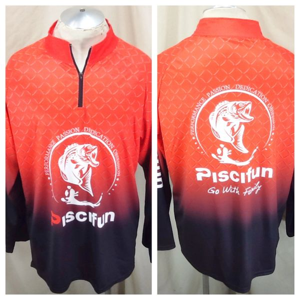 Piscifun Fishing Reels, Rods & Line (XL) Pullover Long Sleeve 1/4 Zip Up Shirt