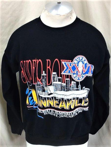 Vintage 1992 Washington Redskins Vs Buffalo Bills Super Bowl (Large) Retro NFL Football Crew Neck Sweatshirt