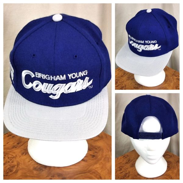 Vintage 1984 Sports Specialties Brigham Young University Cougars NCAA Snap Back Hat