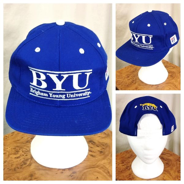 Vintage 1984 The Game BYU Brigham Young University Cougars NCAA Snap Back Hat