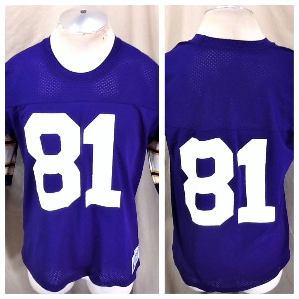 Vintage 1980's Champion Minnesota Vikings Anthony Carter #81 (Large) Retro NFL Football Graphic Jersey