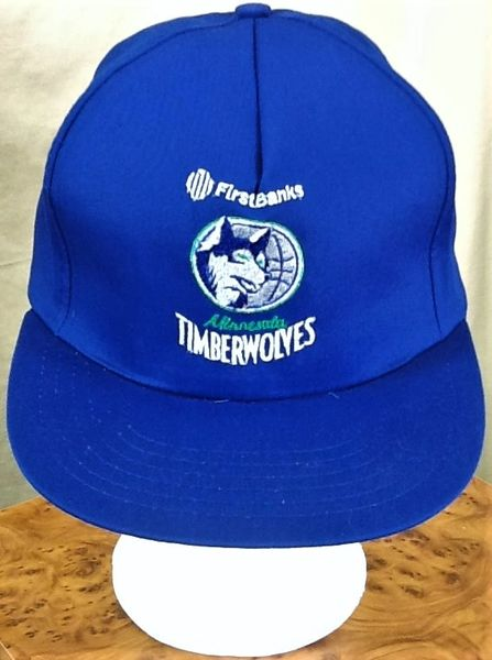 Vintage 90's Minnesota Timberwolves Retro NBA Wolves Classic Logo Graphic Snap Back Hat