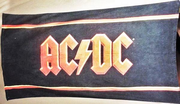Vintage 90's AC/DC Classic Stadium Rock Graphic Beach Towel Wall Art Black