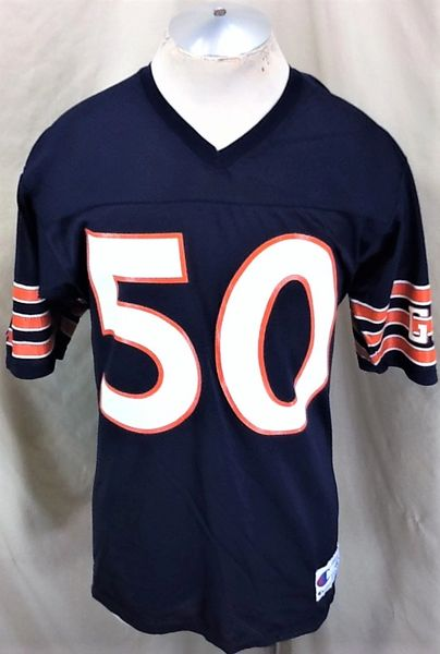 Vintage 90's Champion Chicago Bears Mike Singletary #50 (Med) Retro NFL Football Graphic Jersey