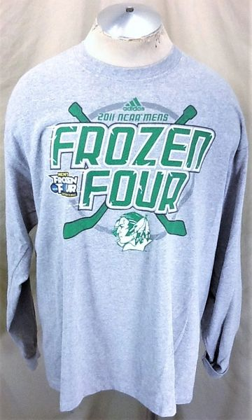 2011 Adidas North Dakota Fighting Sioux (XL) Retro NCAA Frozen Four Long Sleeve T-Shirt