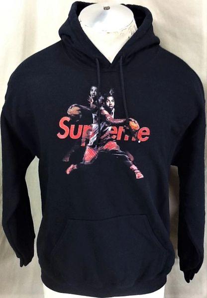 Supreme Bootleg Streetwear Kyrie Irving (Med) Retro NBA Designer Hooded Sweatshirt