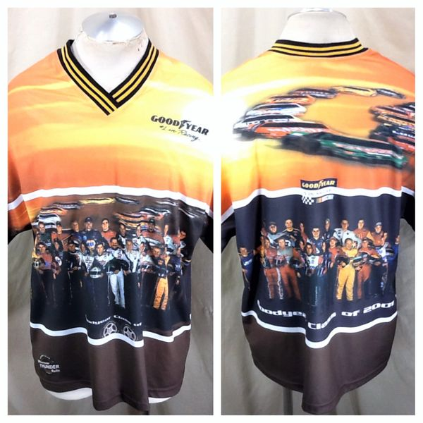 Vintage Nascar Goodyear Class of 2001 (XL) Retro Racing Drivers Graphic Shirt