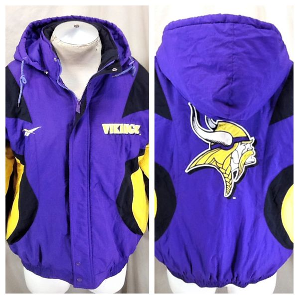 quality design 35e67 f3bba Vintage 90's Reebok Minnesota Vikings (Large) NFL Football Zip Up Hooded  Jacket