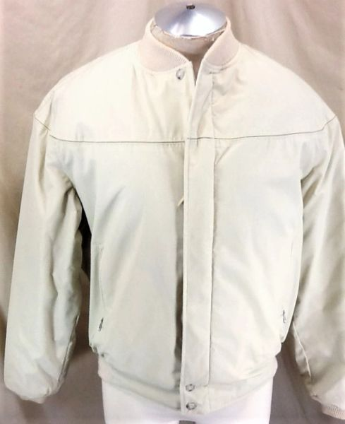 Vintage 1970's The Varsity by Catalina Martin (44/Large) Retro Full Zip Up Tan Jacket