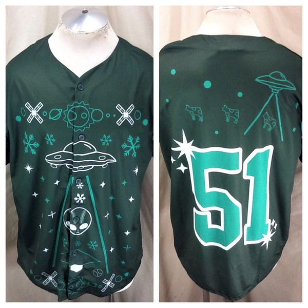 "Retro Las Vegas 51s ""Ugly Sweater"" Promo (XL) New York Mets Affiliate Button Up Jersey"