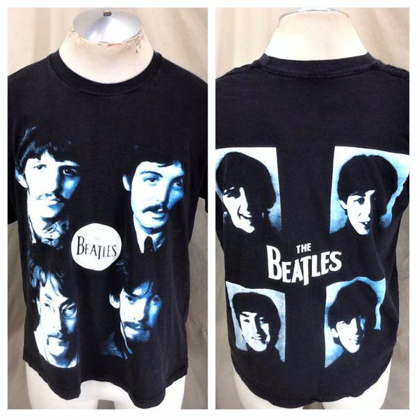 "Vintage 90's The Beatles ""Head Shots"" (Large) Music Legends Graphic Band T-Shirt Black"