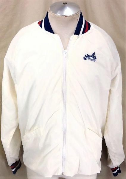 Vintage 70's Spirit Sportswear Suzuki Wet Bike (Large) Retro Zip Up Nylon Jacket