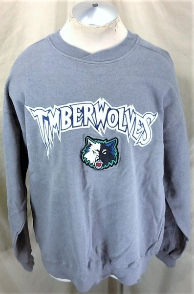 Vintage Majestic Minnesota Timerwolves (Large) Retro NBA Crew Neck Sweatshirt