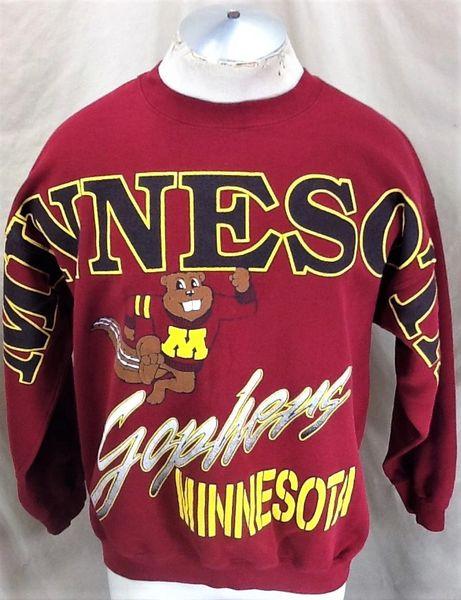 "Vintage 90's Minnesota Gophers ""Goldy"" (Large/XL) Retro NCAA Graphic Crew Neck Sweatshirt"