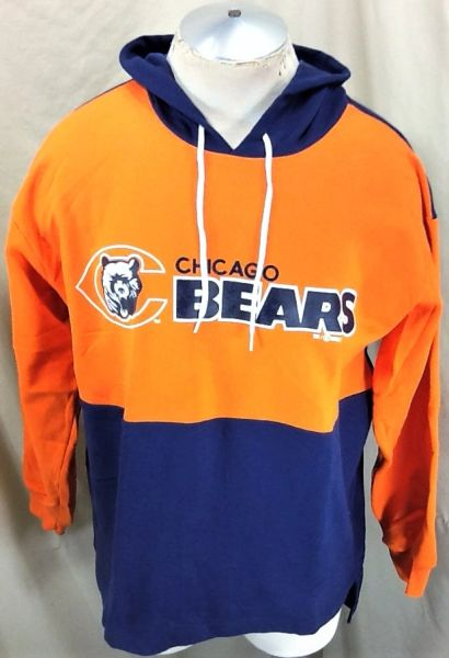 Vintage 1993 Hummer Chicago Bears Football (Large) Retro NFL Graphic Hooded Sweatshirt