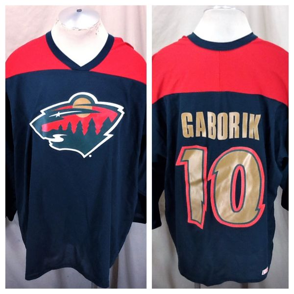 Vintage CCM Marian Gaborik #10 (XL) Retro NHL Hockey Minnesota Wild Knit Jersey