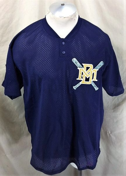 Vintage Majestic Diamond Collection Milwaukee Brewers (XL) Retro MLB Baseball Mesh Pullover Jersey