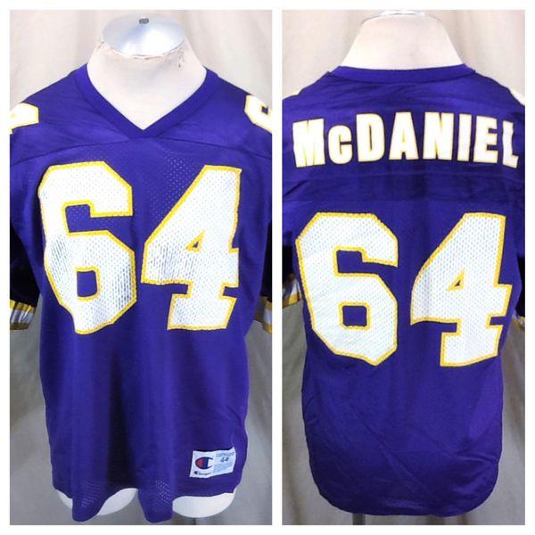 Vintage 90's Champion Randall McDaniel #64 (44/L) Retro Minnesota Vikings NFL Football Jersey