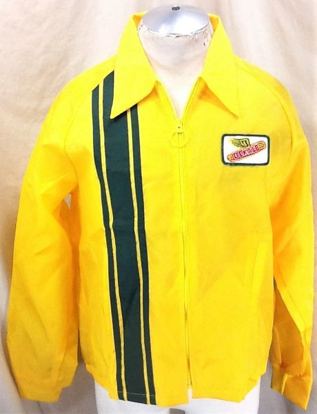 Vintage 70's Swingster Dekalb Seed Company (Large) Zip Up Light Weight Windbreaker Jacket