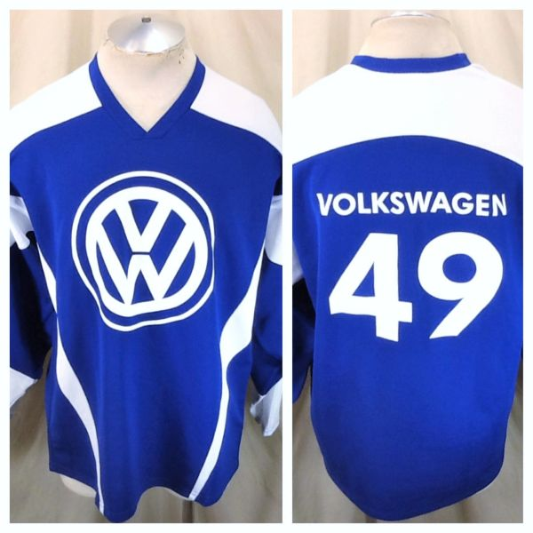 Volkwagon VW #49 German Automaker (Large) Pullover Knit Graphic Hockey Jersey