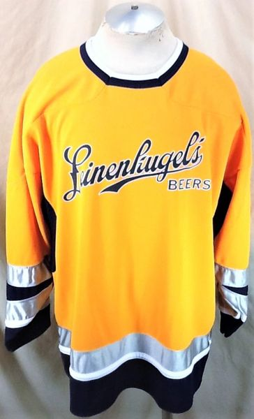 Athletic Knit Leinenkugel's Beers (XL) Pullover Knit Breweriana Graphic Hockey Jersey